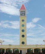 塔钟应用在建筑外部装饰